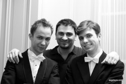 Doryan Rappaz, Sandro Tigishvili and Stanislav Sagdeyev after the concert in Bern
