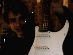 Sasha Vitkovskiy showing the guitar on Skype