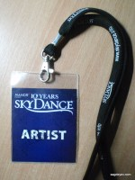 SkyDance backstage pass with an autograph of Patricia Kaas