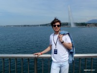 Stanislav Sagdeyev at the Geneve Lake