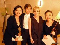 Stanislav Sagdeyev with Patricia Kaas and the colleagues
