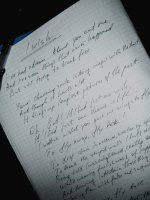 I handwritten manuscript of 'I Wish...' poem