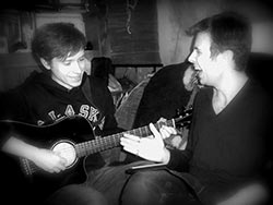Stas Sagdeyev and Alex Vitkovskiy making music