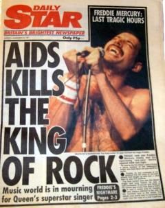 Daily Star: AIDS kills the king of rock