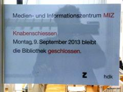 The ZHdK's library was closed too
